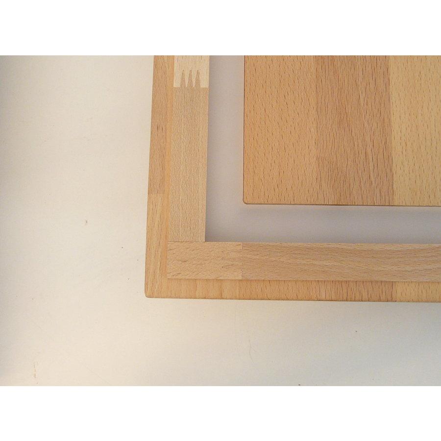 LED Deckenleuchte Holz Buche  39 x 39 cm   mit indirektem Licht-10