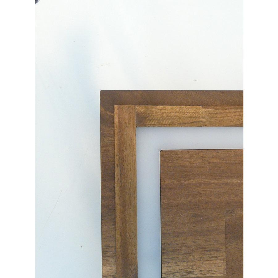 LED Deckenleuchte Holz Akazie  20 x 20 cm   mit indirektem Licht-9