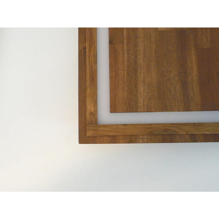 kleine LED Deckenleuchte Holz Akazie 20 cm x 20 cm-8