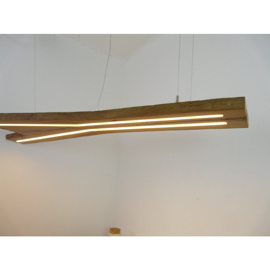 XL LED Lampe Hängeleuchte antik Balken-5