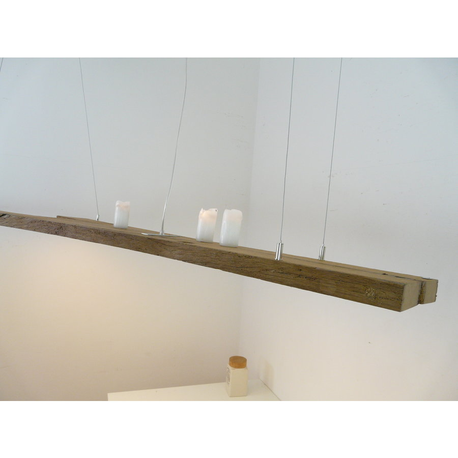 XL LED Lampe Hängeleuchte antik Balken-8