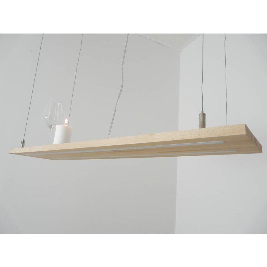 Hängeleuchte Holz Eiche Doppel Led Zeile-6