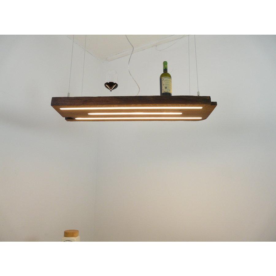 Esstischlampe Hängeleuchte aus antiken Balken-2