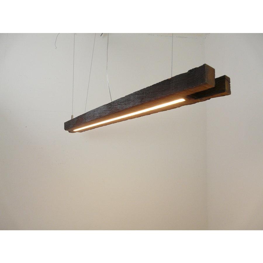 Esstischlampe Hängeleuchte aus antiken Balken-4