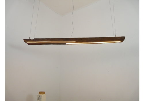 LED Lampe Hängeleuchte Ober/Unterlicht Holz antik Balken