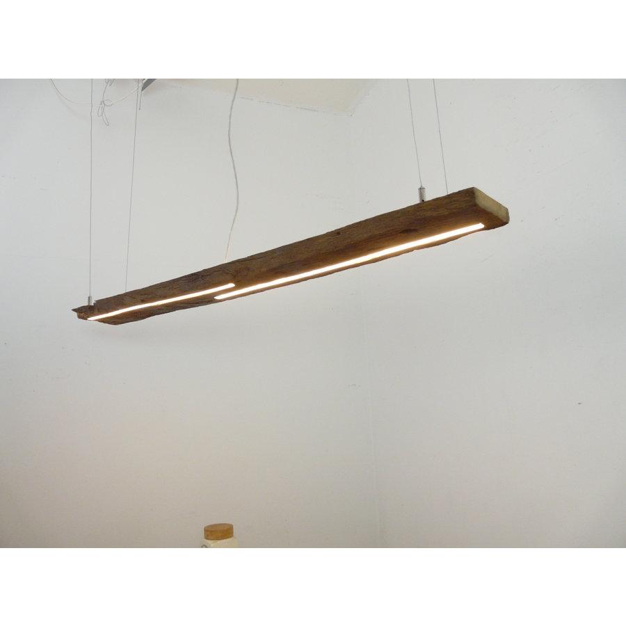 LED Lampe Hängeleuchte Ober/Unterlicht Holz antik Balken-2