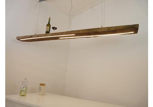 XL LED Lampe Hängeleuchte Holz Eiche Balkenlampe