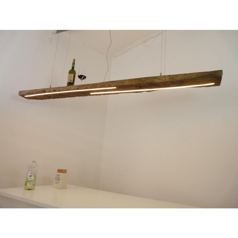 XL LED Lampe Hängeleuchte Holz Eiche Balkenlampe-1