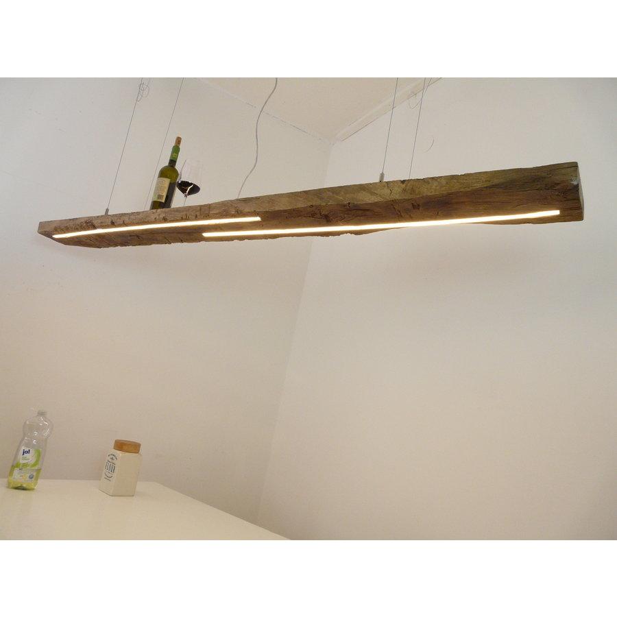 XL LED Lampe Hängeleuchte Holz Eiche Balkenlampe-3