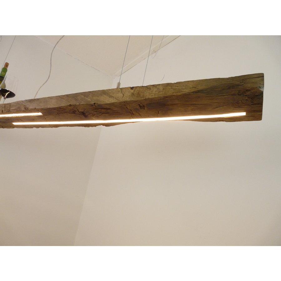 XL LED Lampe Hängeleuchte Holz Eiche Balkenlampe-6