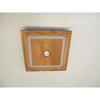 thumb-LED Deckenleuchte Holz Eiche geölt  39 cm x 39 cm-7