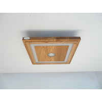 thumb-LED Deckenleuchte Holz Eiche geölt  39 cm x 39 cm-8