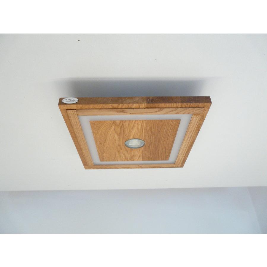 LED Deckenleuchte Holz Eiche geölt  39 cm x 39 cm-8