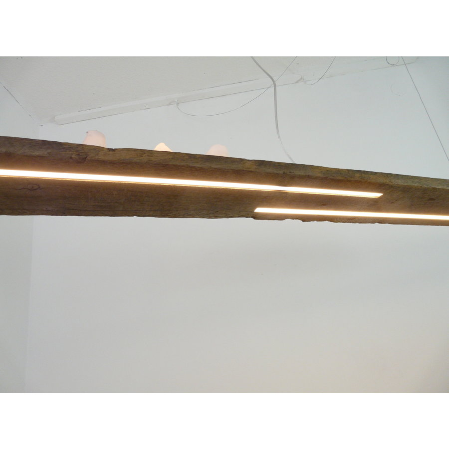rustikale LED Lampe Hängeleuchte antik Balken-5
