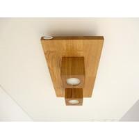 thumb-LED Deckenleuchte Holz Eiche  40 x 20 cm-3