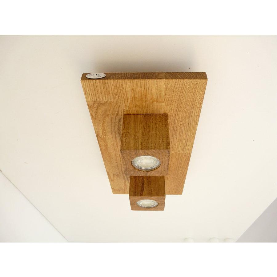 LED Deckenleuchte Holz Eiche  40 x 20 cm-3