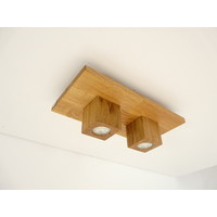 thumb-LED Deckenleuchte Holz Eiche  40 x 20 cm-4