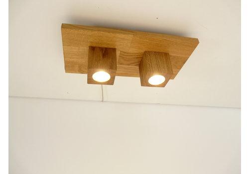 LED Deckenleuchte Holz Eiche   40 cm x 20 cm