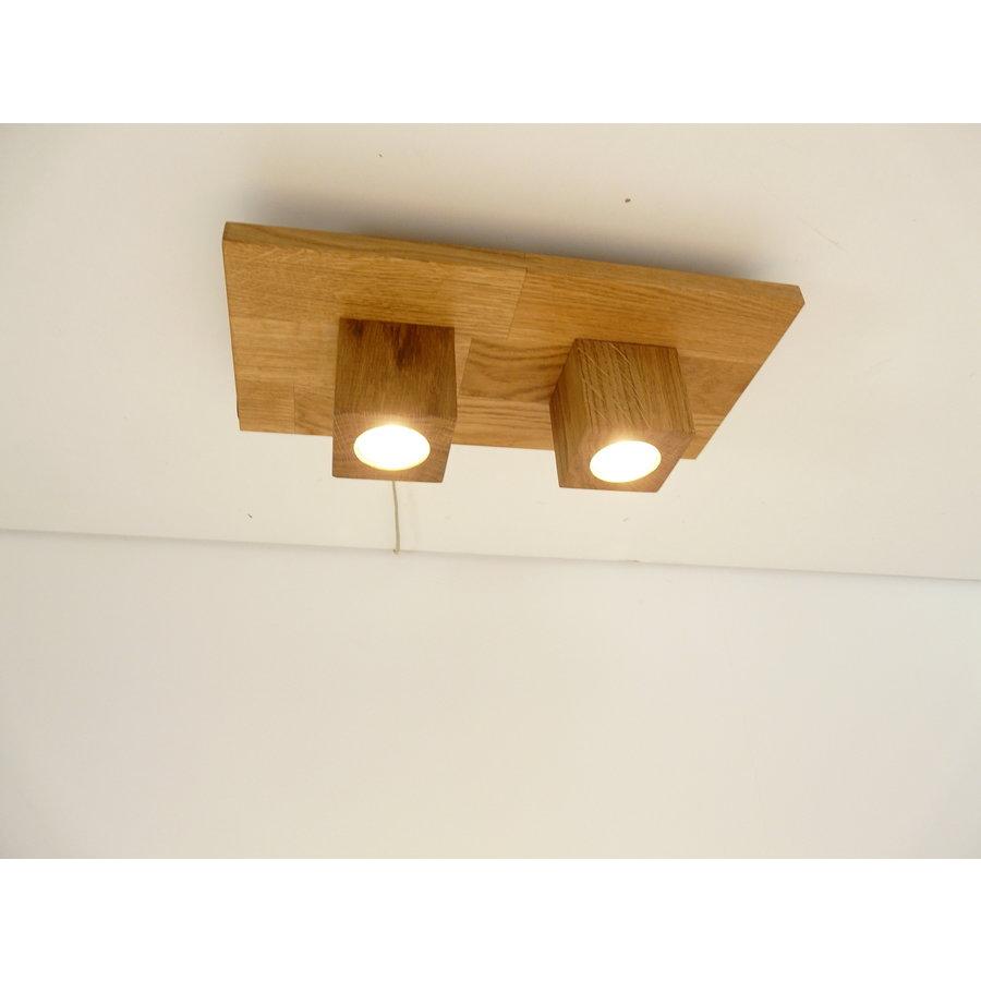 LED Deckenleuchte Holz Eiche  40 x 20 cm-1