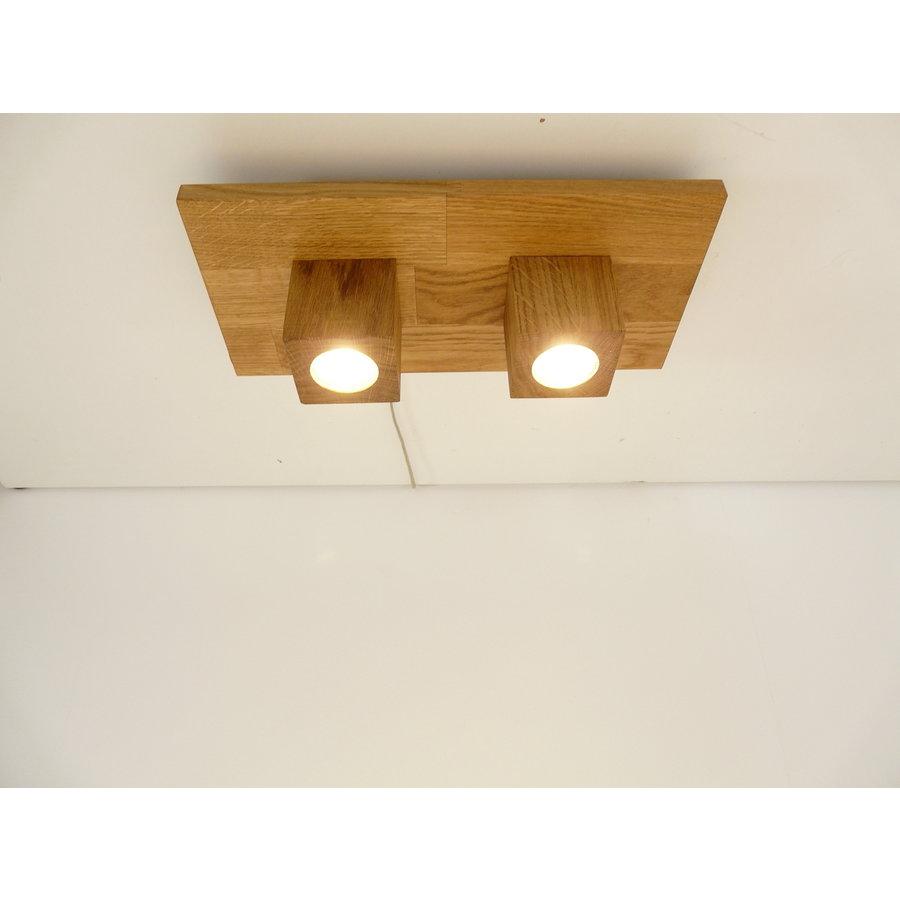 LED Deckenleuchte Holz Eiche  40 x 20 cm-2