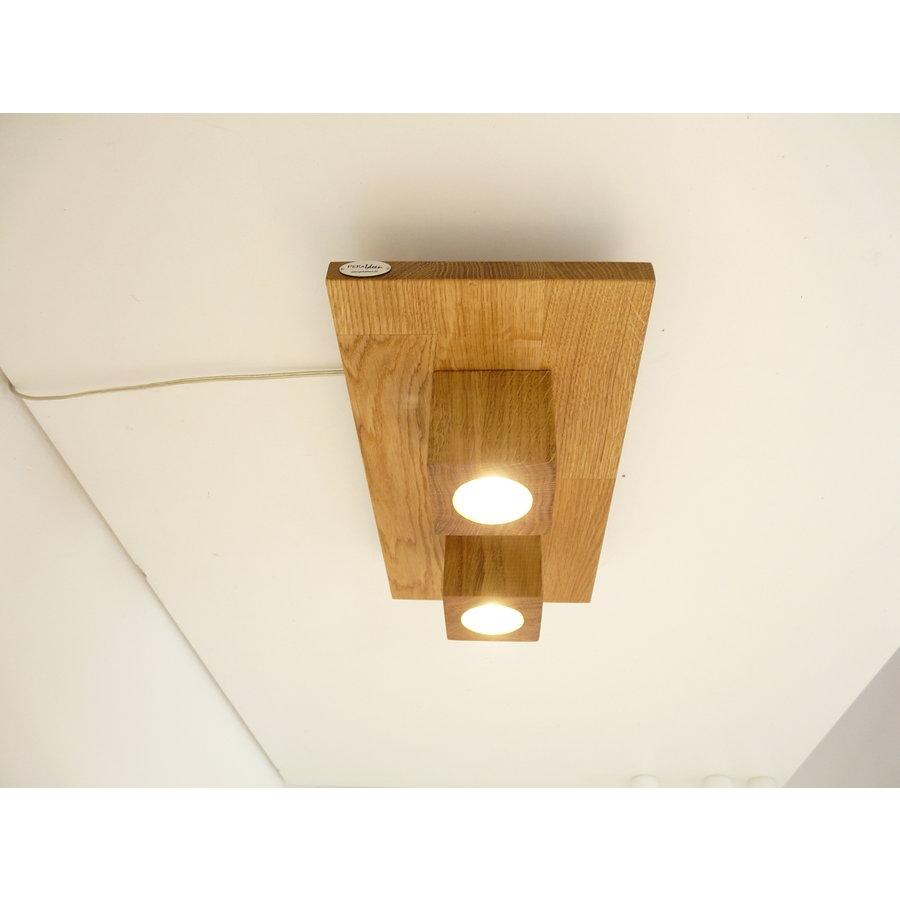 LED Deckenleuchte Holz Eiche  40 x 20 cm-5