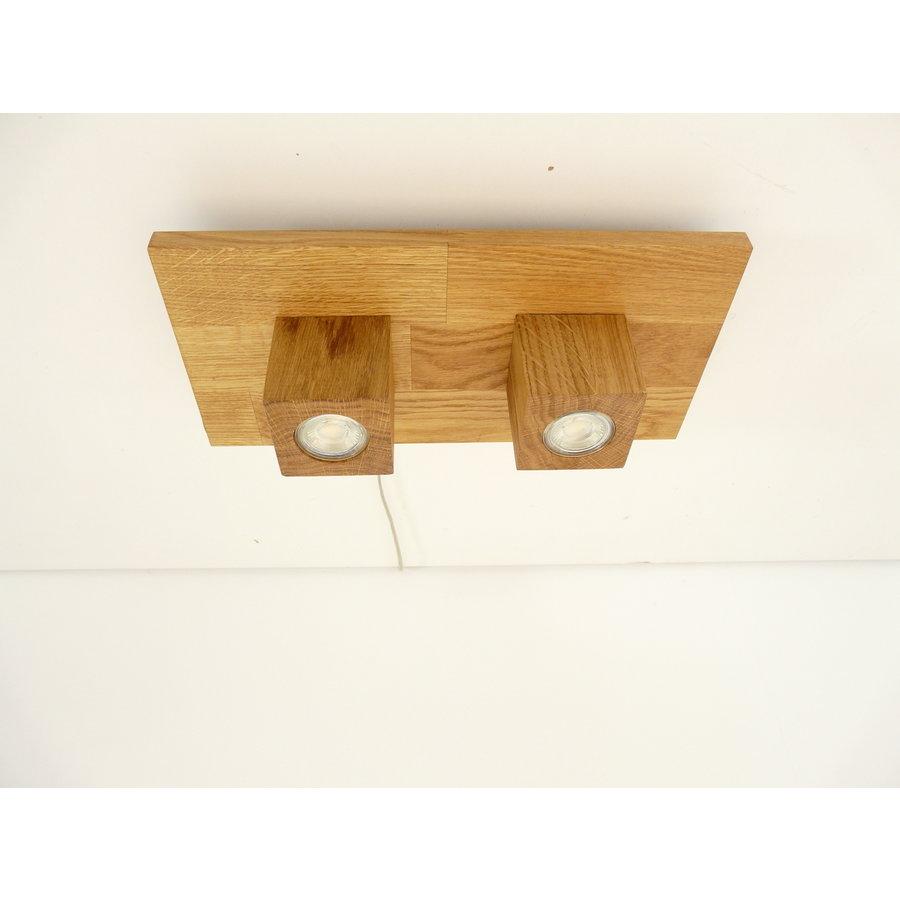 LED Deckenleuchte Holz Eiche  40 x 20 cm-6
