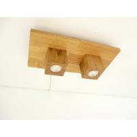 thumb-LED Deckenleuchte Holz Eiche  40 x 20 cm-7