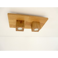 thumb-LED Deckenleuchte Holz Eiche  40 x 20 cm-8