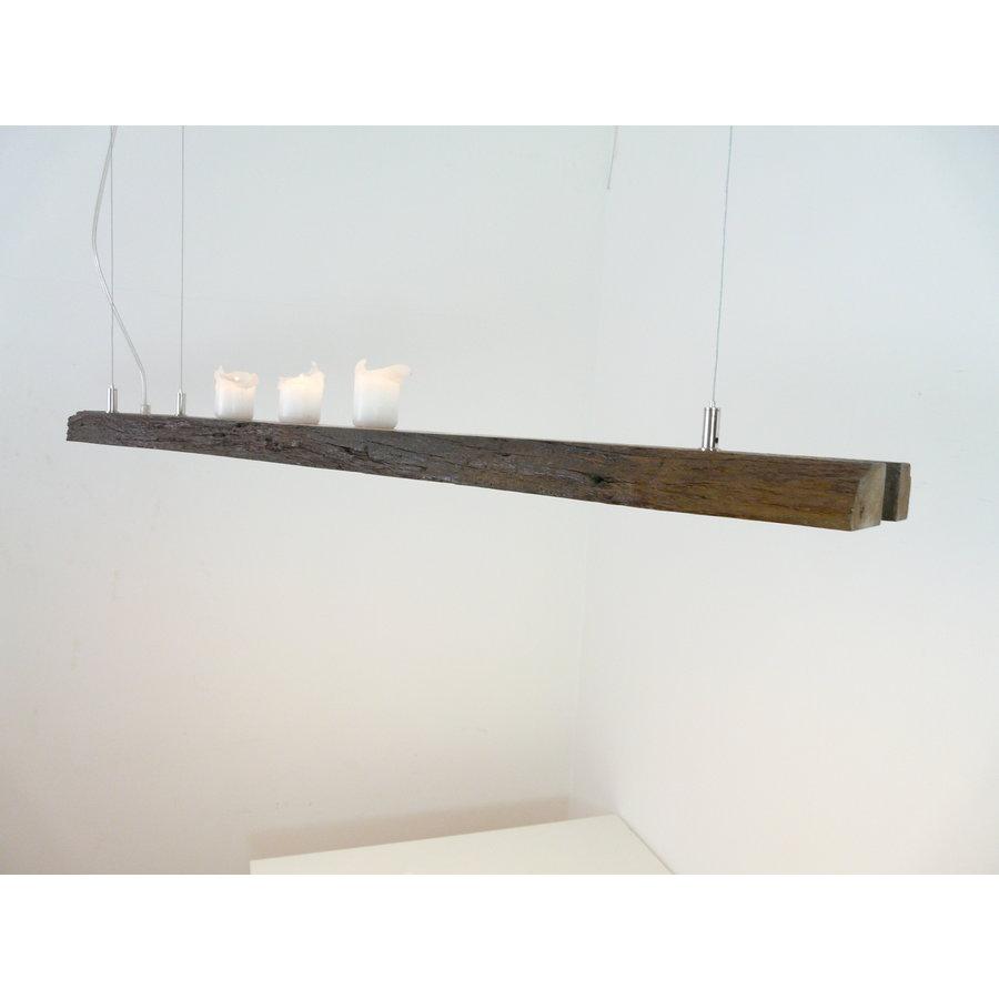 Esstischlampe Hängeleuchte aus antiken Balken-5