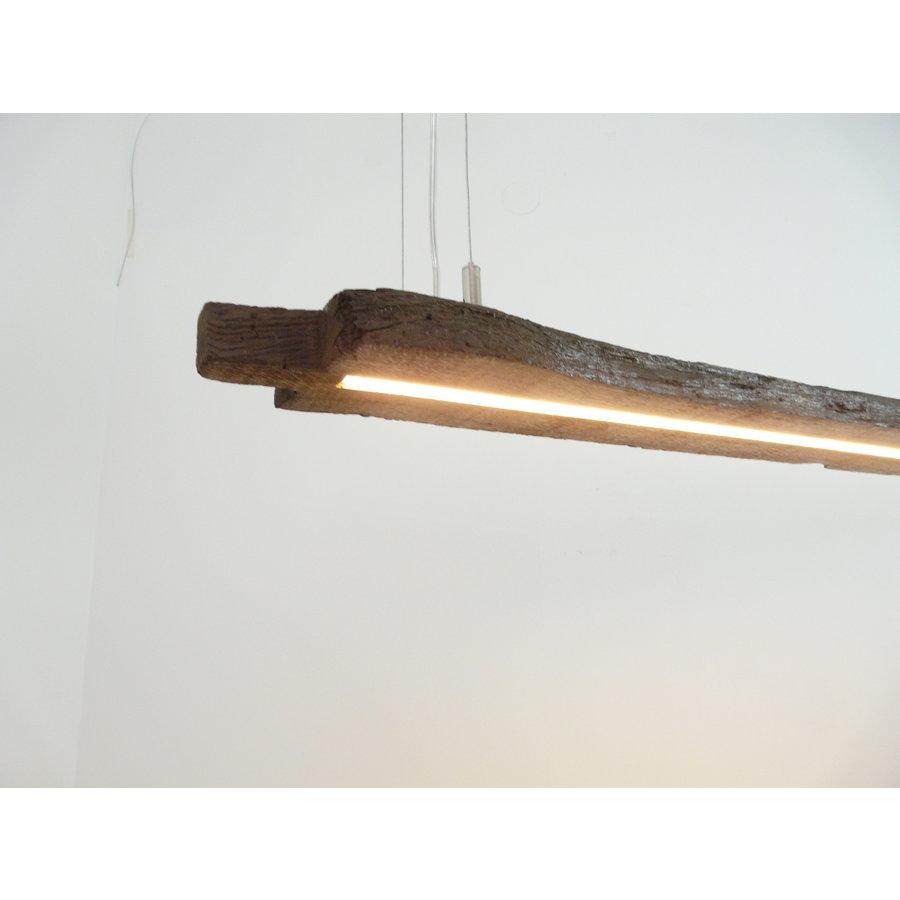 Esstischlampe Hängeleuchte aus antiken Balken-1