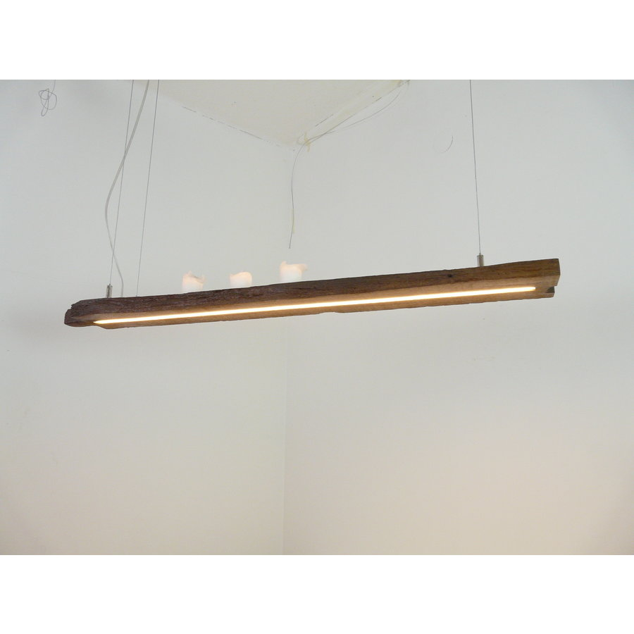 Esstischlampe Hängeleuchte aus antiken Balken-3