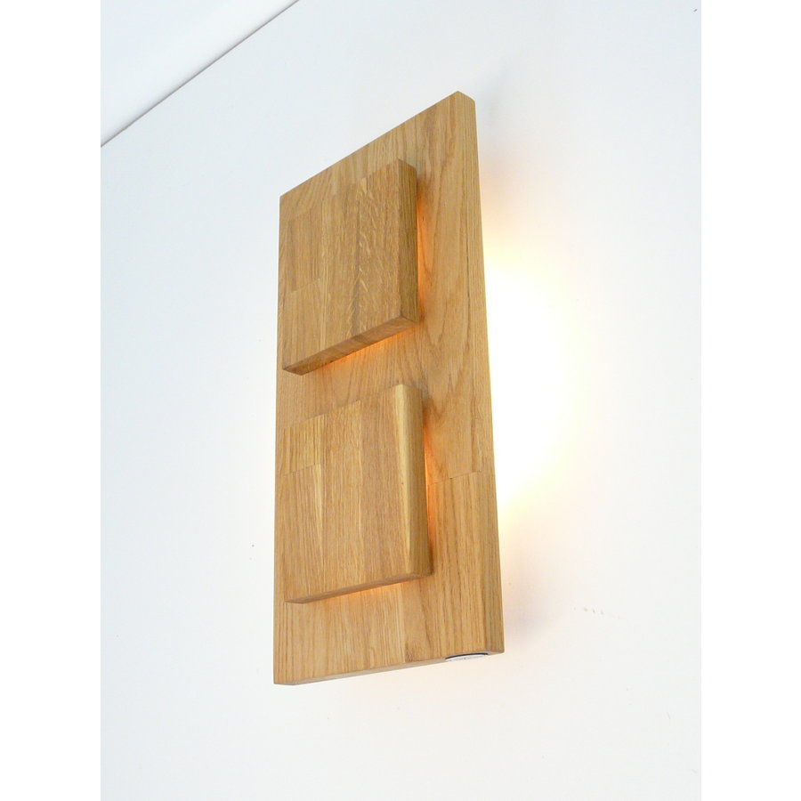 Wandleuchte Holz Eiche 2-fl.-1