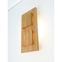 thumb-Wandleuchte Holz Eiche 2-fl.-2