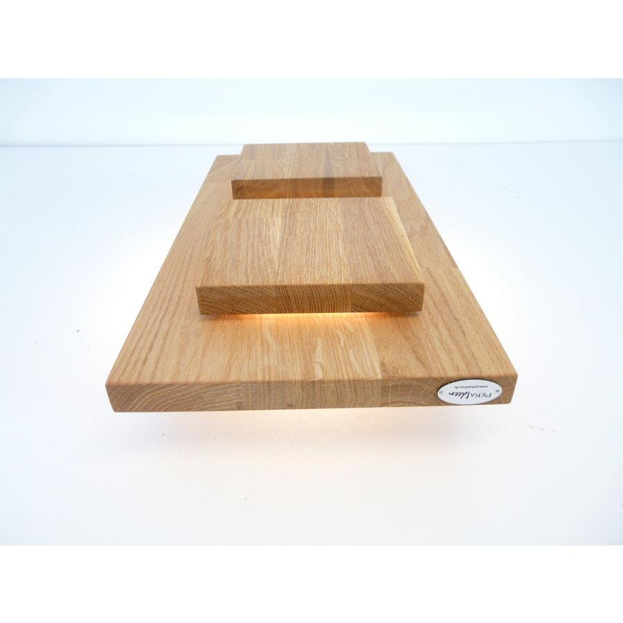 Wandleuchte Holz Eiche 2-fl.-3