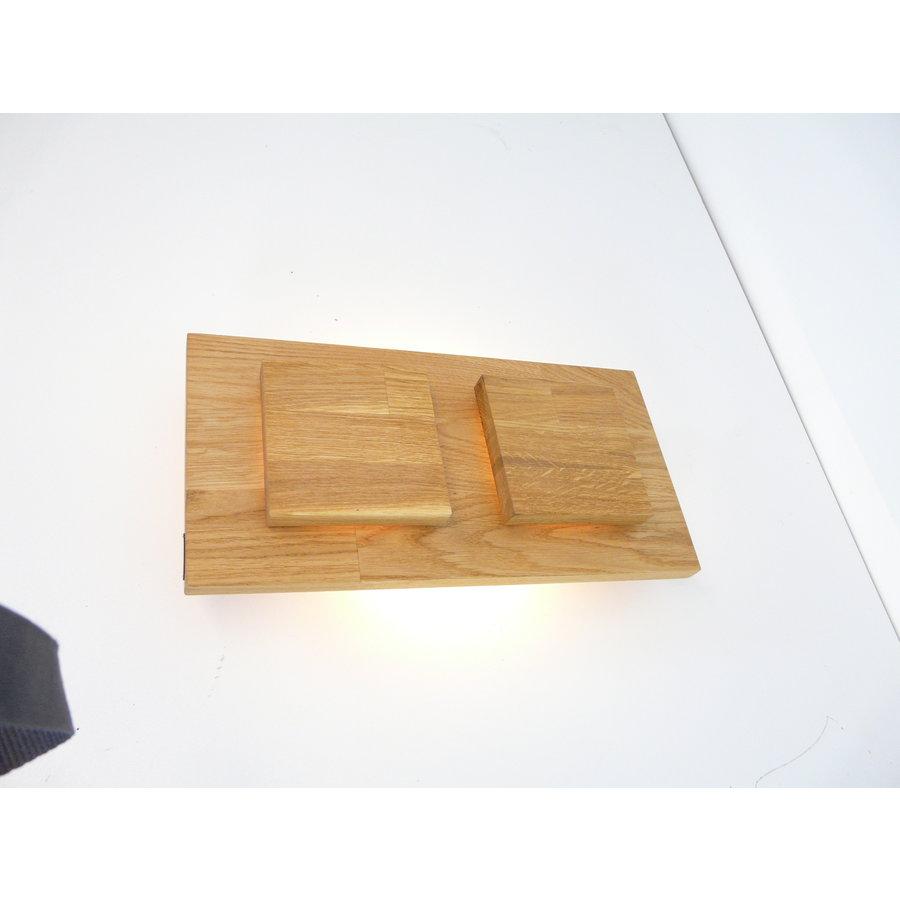 Wandleuchte Holz Eiche 2-fl.-4