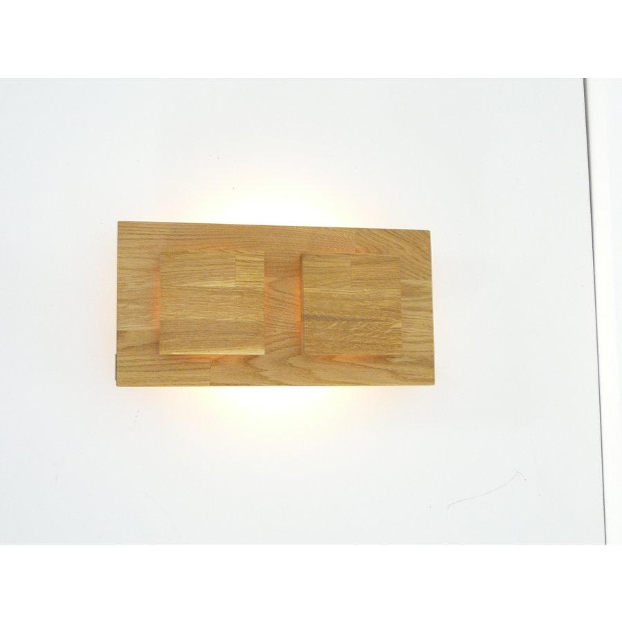 Wandleuchte Holz Eiche 2-fl.-6