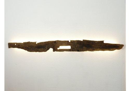 dekorative Led Wandlampe aus antikem Holz