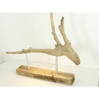 thumb-Tischleuchte Treibholz  Skulptur-5