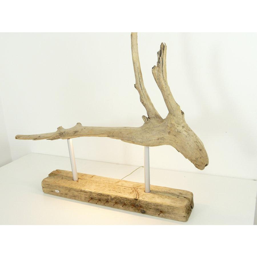 Tischleuchte Treibholz  Skulptur-5