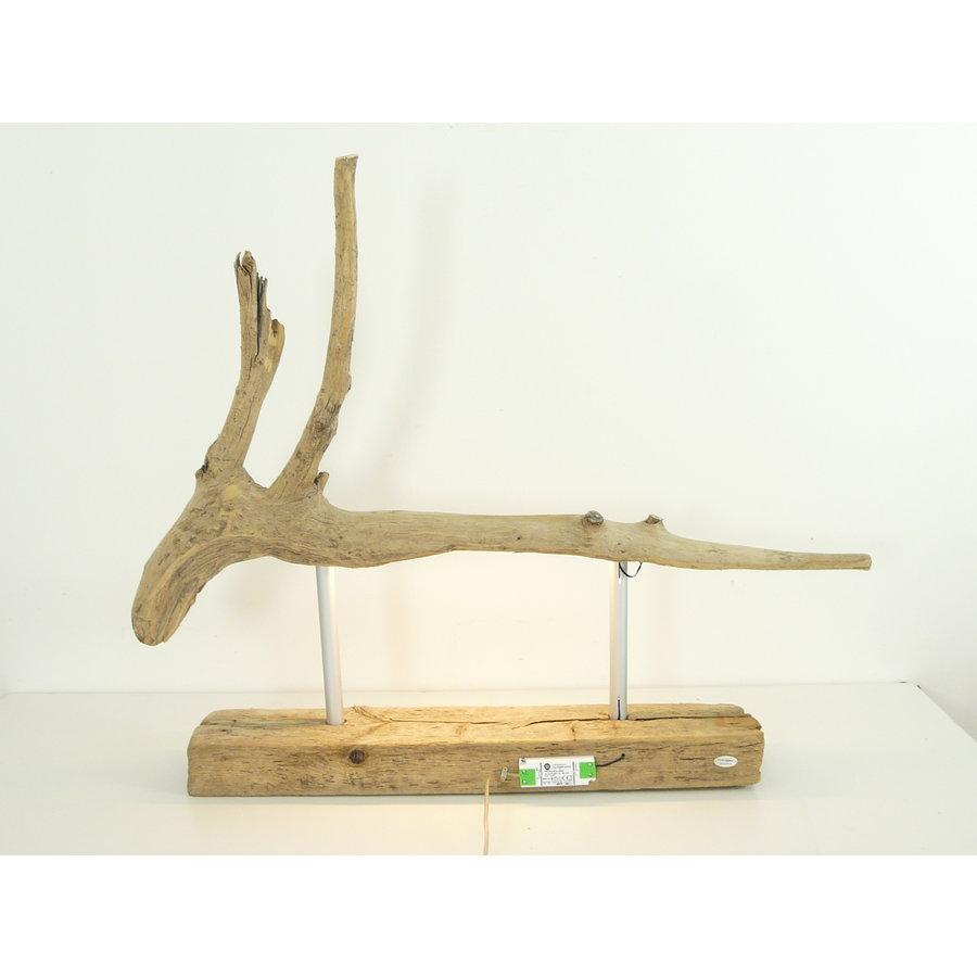 Tischleuchte Treibholz  Skulptur-6
