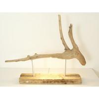 thumb-Tischleuchte Treibholz  Skulptur-1