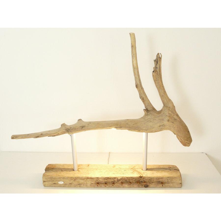 Tischleuchte Treibholz  Skulptur-1