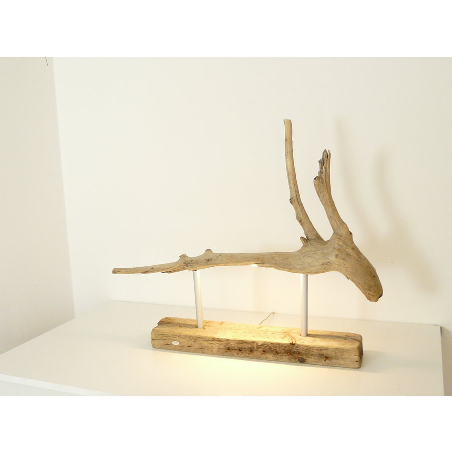 Tischleuchte Treibholz  Skulptur-8