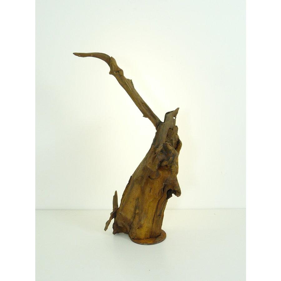 Tischleuchte Holz Skulptur Eiche Wurzelholz-4