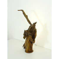 thumb-Tischleuchte Holz Skulptur Eiche Wurzelholz-6