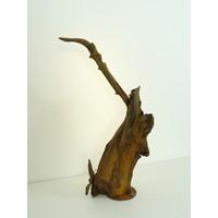 thumb-Tischleuchte Holz Skulptur Eiche Wurzelholz-1