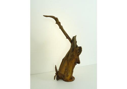 Peka Ideen Tischleuchte Holz Skulptur Eiche Wurzelholz