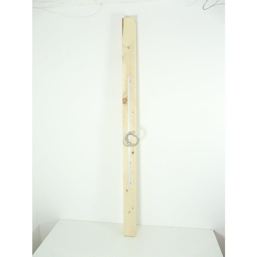 Esstischlampe Hängeleuchte aus Zirbenholz   196 cm-8
