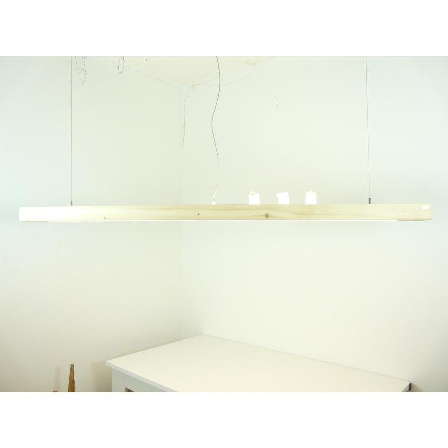 Esstischlampe Hängeleuchte aus Zirbenholz   196 cm-3