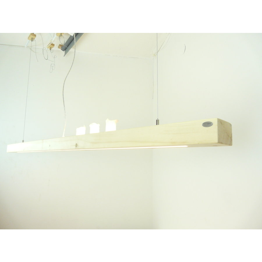 Esstischlampe Hängeleuchte aus Zirbenholz   196 cm-5